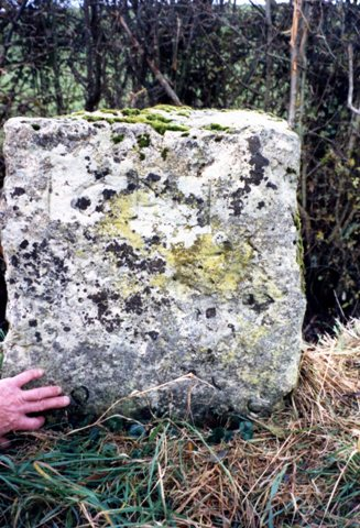 The Gypsy King's grave is marked by this Portland stone block at