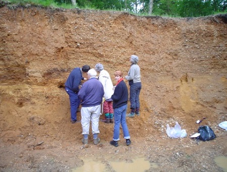 Volunteers record sediments at Burnham Beeches