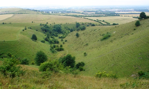 Incombe Hole - a steep sided dry valley