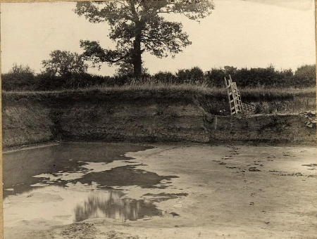 Locke's Brickpit, Hartwell in the early 20th Century. It was eventually used as the Council's landfill site.