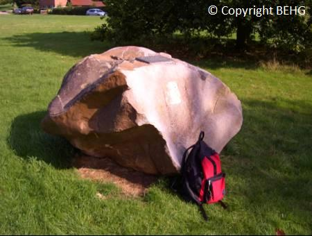 Sarsenstone at Bradenham village green, dug up and moved here from a nearby field.