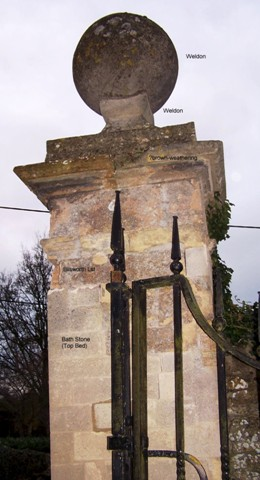 gate piers to the Church of St Peter